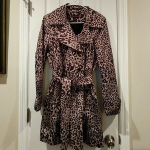 Dana Buchman Leopard Print Trench Coat